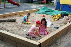Children playing in the sandbox