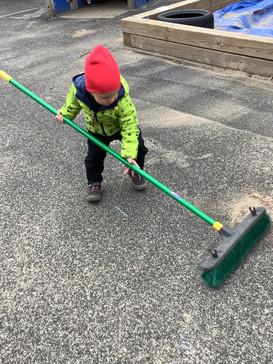 Sweeping away!