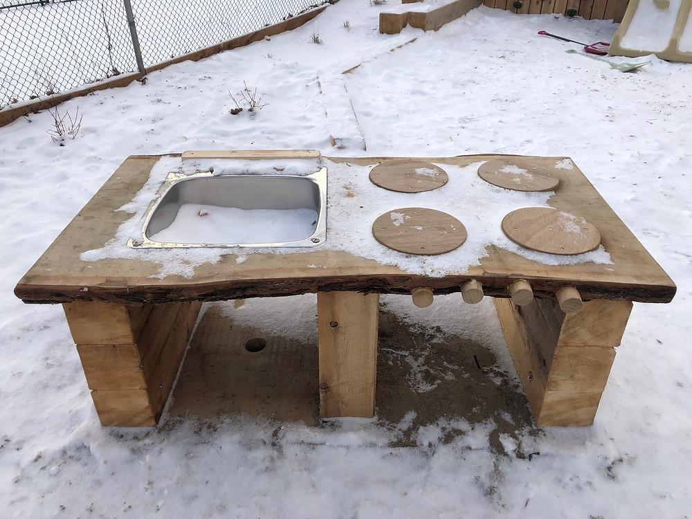 Mud kitchen table