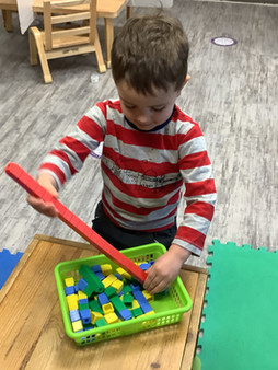 You can find many little builders across our centre.