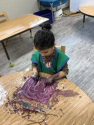 The messy process of creating amazing artwork.