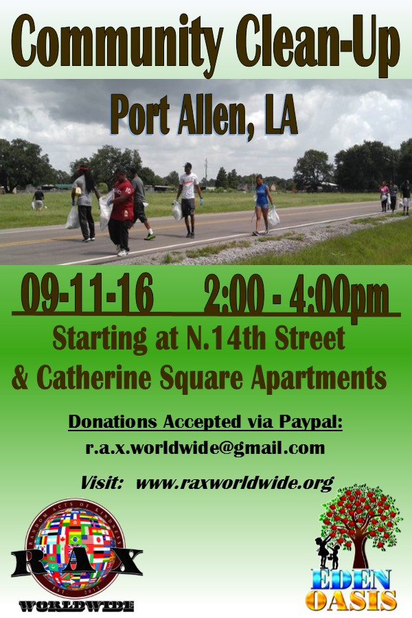 Community Clean Up Day August 2016