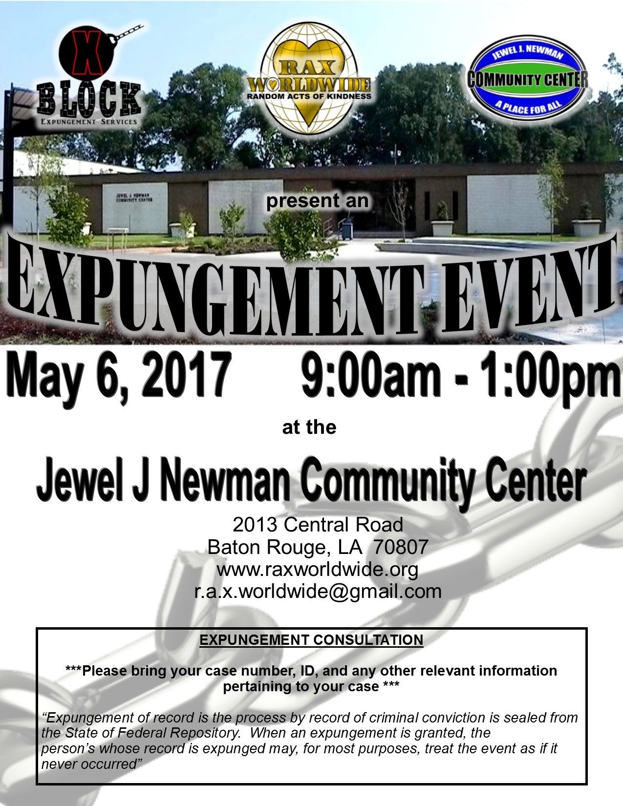 Expungement Event - May 6 2017