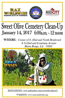 Sweet Olive Cemetery Clean Up