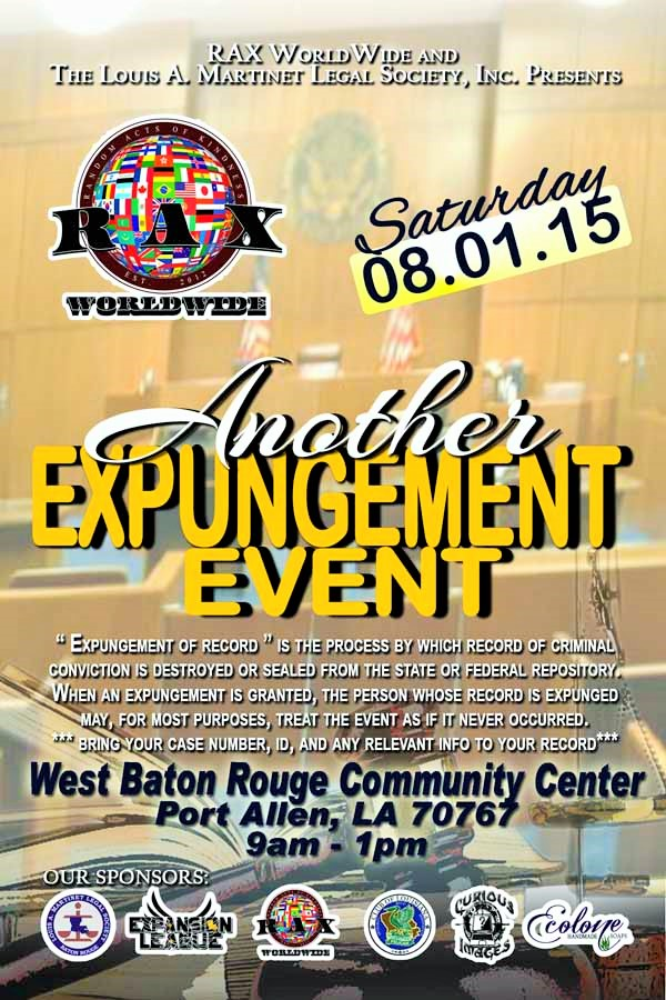 Another Expungement Event