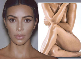 Kim Kardashian nearly exposes front bum as she shocks fans with her nude photos