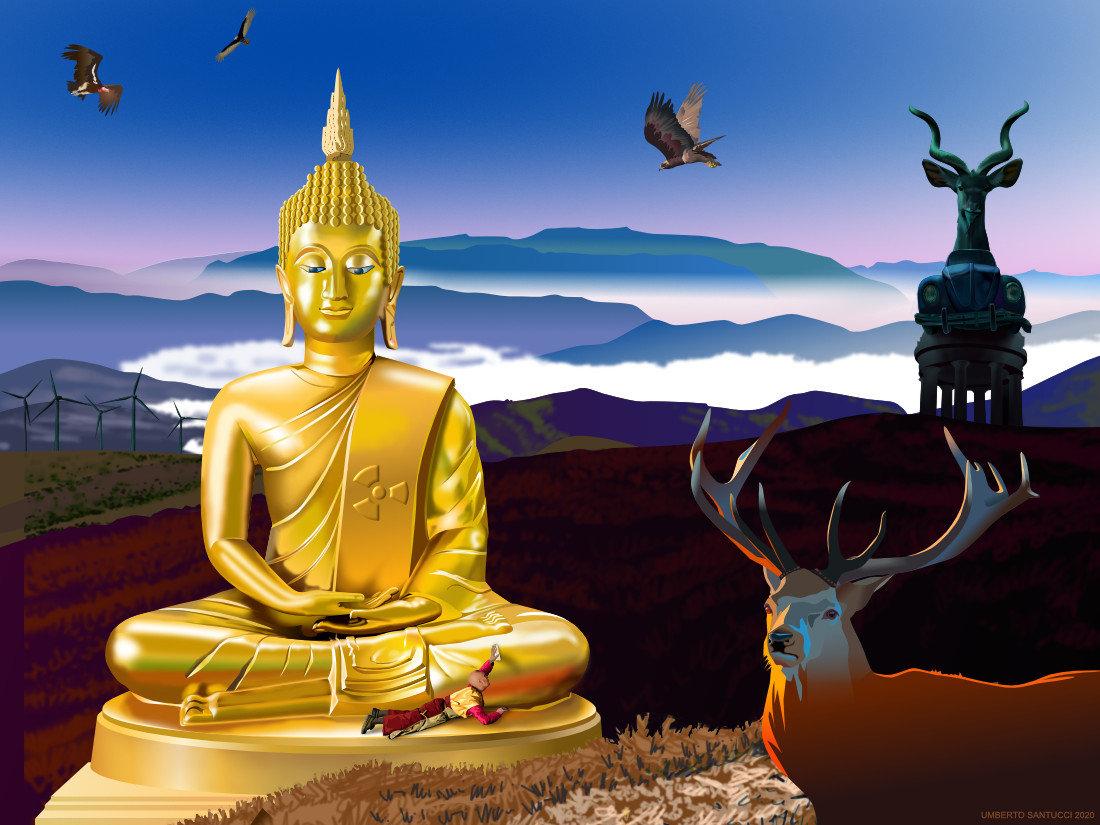 Budda al Plutonio - iperoggetti pandemici di Umberto Santucci