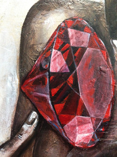TREASURE FROM WITHIN - woman red diamond - DETAIL