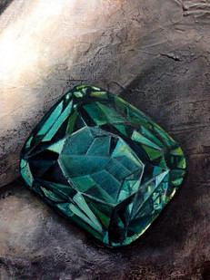 TREASURE FROM WITHIN - woman green diamond - DETAIL