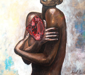 TREASURE FROM WITHIN - woman red diamond