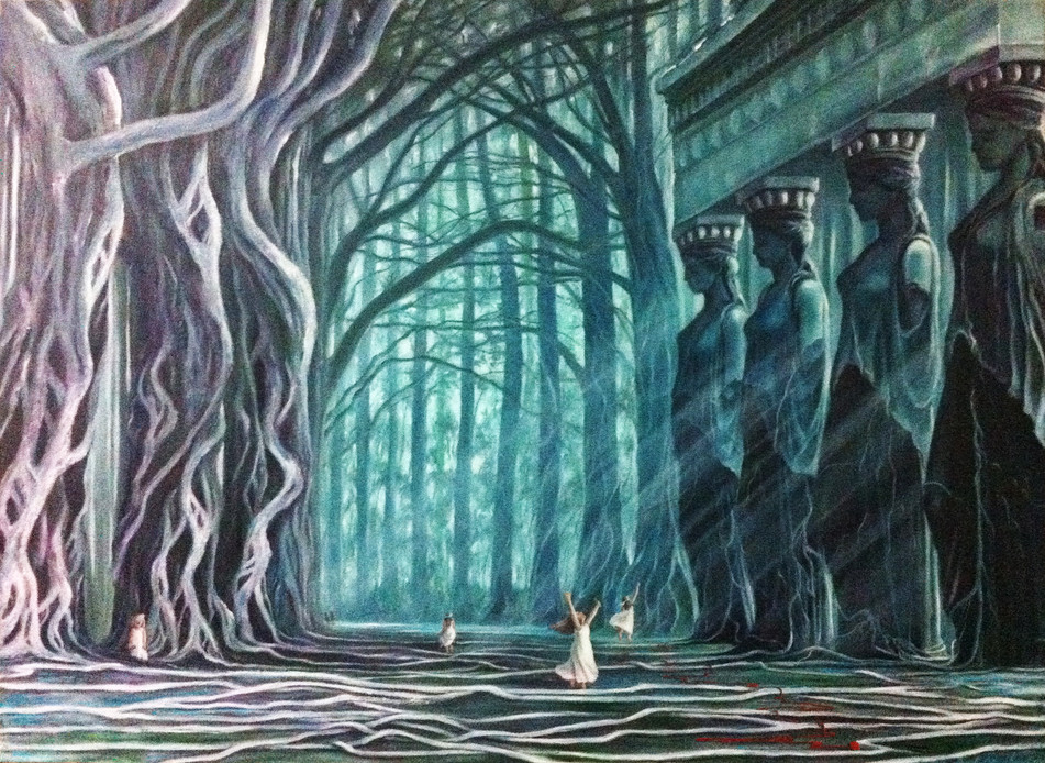 THE PILGRIMAGE OF THE TREES (A Tribute to Cariatids)