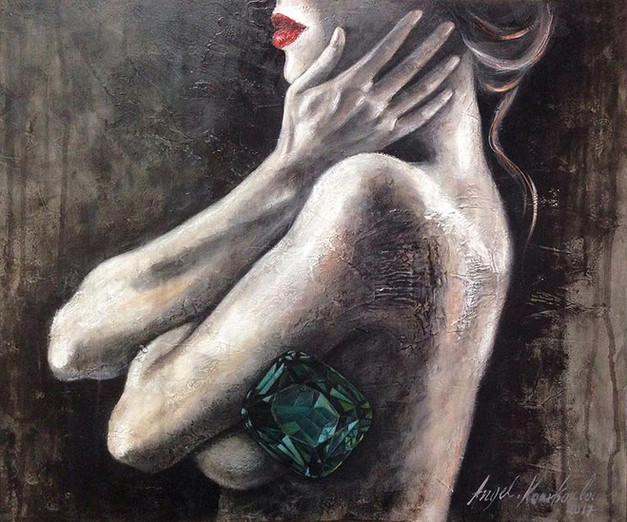 TREASURE FROM WITHIN - woman green diamond
