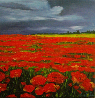 THE PEACEFUL NARRATION OF A POPPY VIII - sold