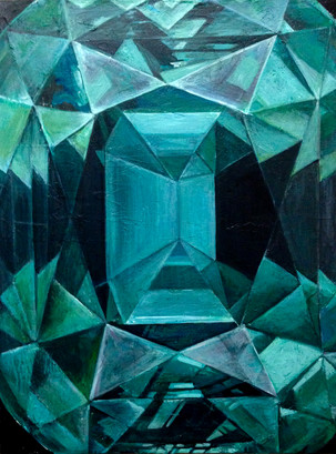 TREASURE FROM WITHIN - green prism diamond