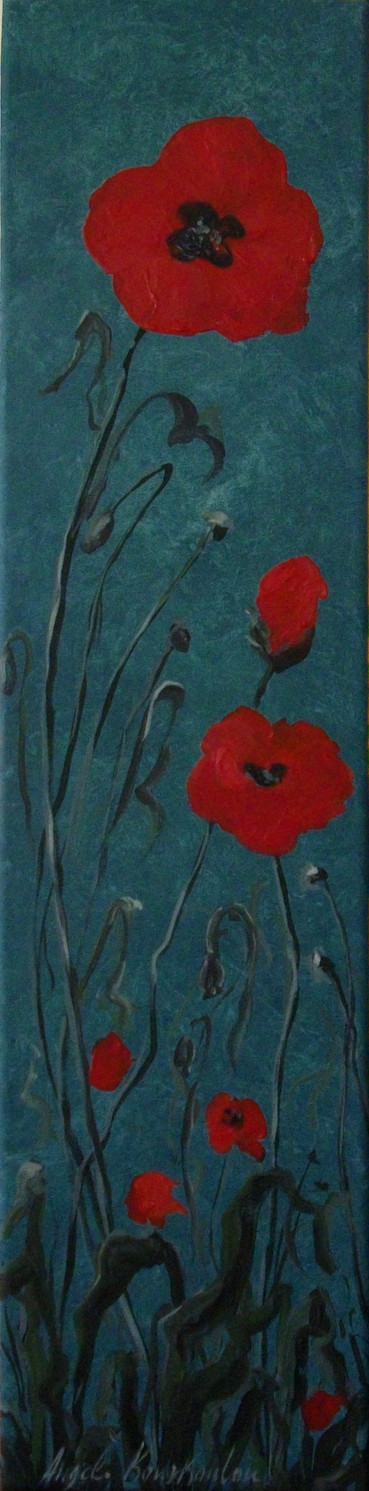 THE PEACEFUL NARRATION OF A POPPY, 40a