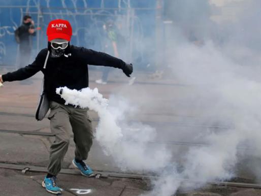 Frat tries tear gas for crowd control