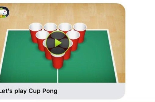Update: He doesn't like you, he genuinely just likes playing Cup Pong