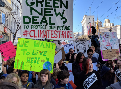 Local landfill now filled with discarded signs from climate strike