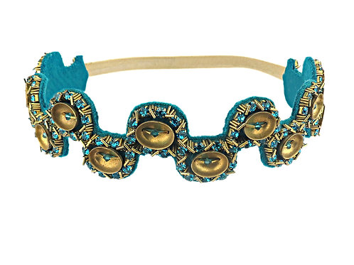Jewelled Blue Zircon Headband