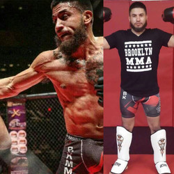 MMA Fighter Brandon w/ our shinpads