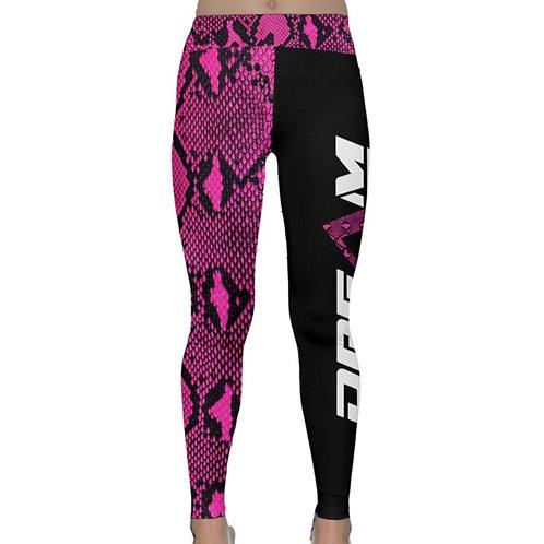 Pink Snakeskin Yoga Pants
