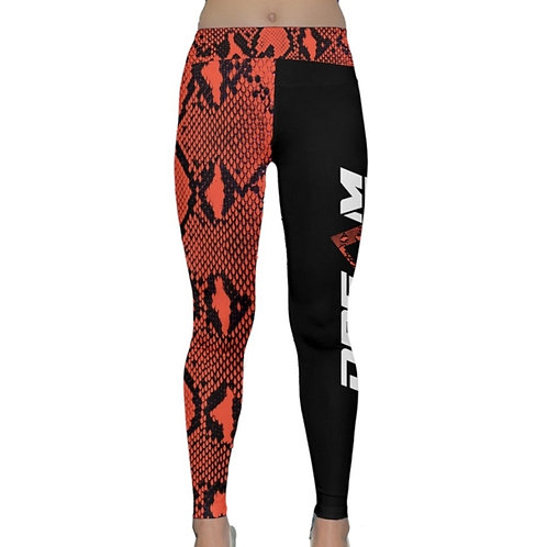 Red Snakeskin Yoga Pants
