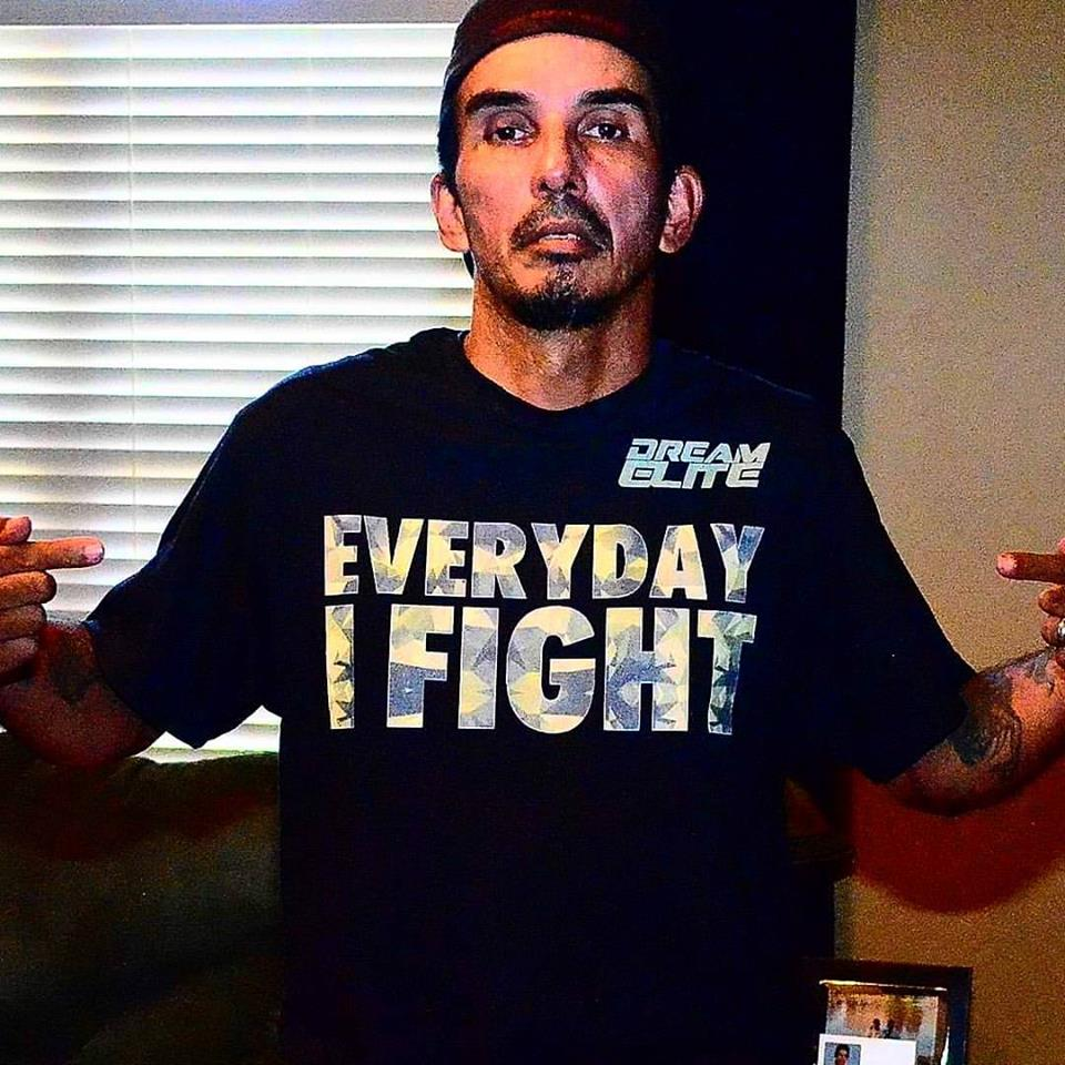 Don Mcguire with our Everyday I Fight Shirt