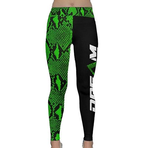 Green Snakeskin Yoga Pants
