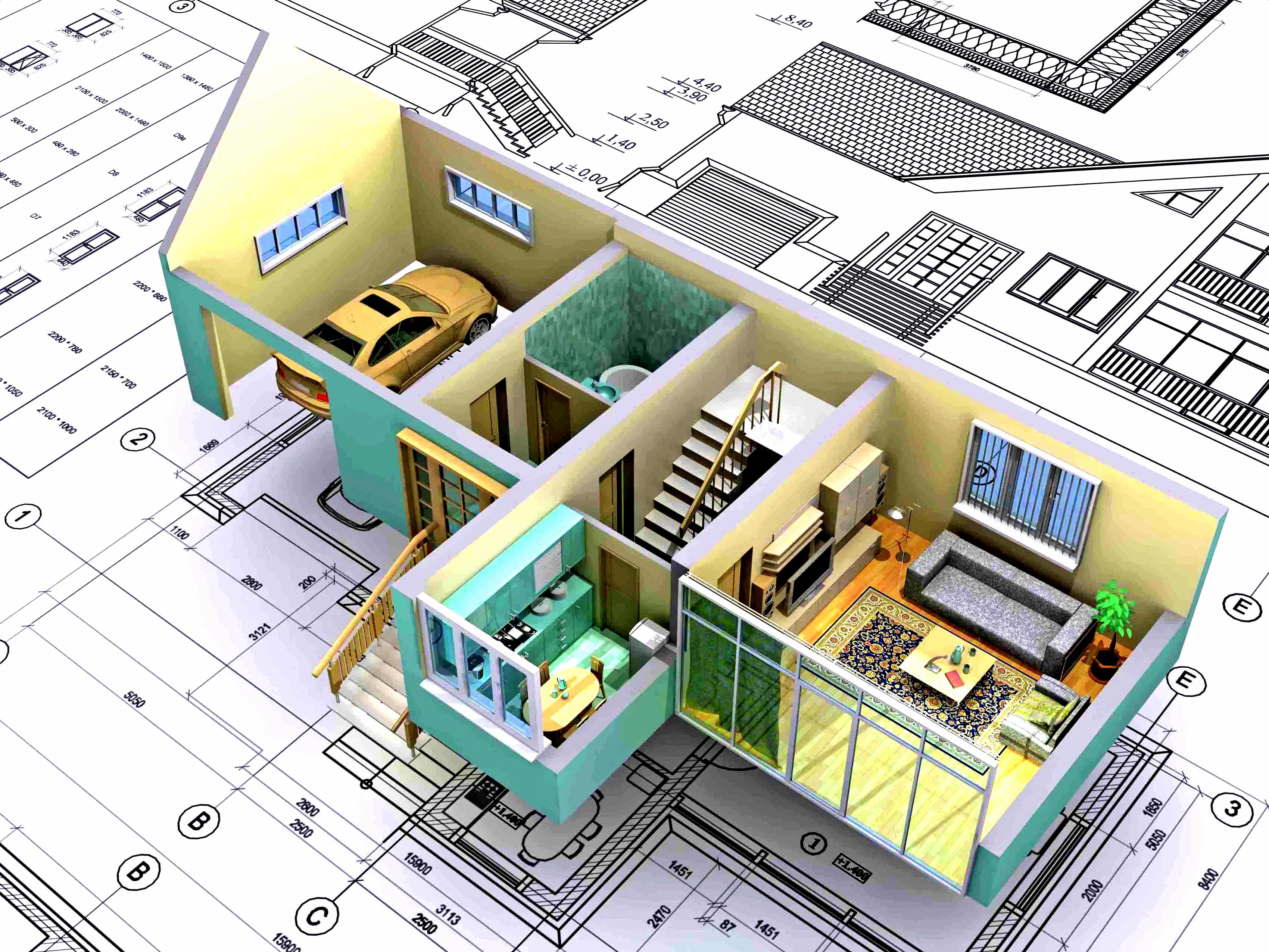 3D планировка частного дома