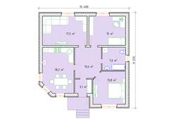 Планировка дома площадью 90 кв