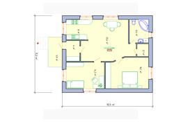 Проект дома с кухней-гостиной