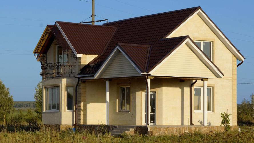 Двухэтажный дом из дагестанского камня.j