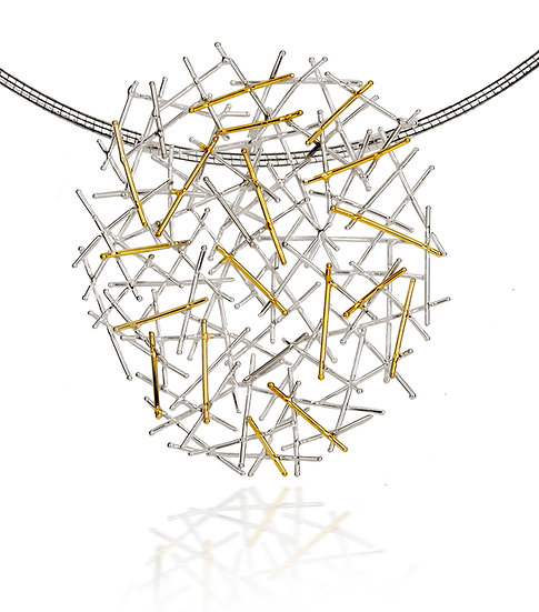 Magnetic Silver & Gold Pendant