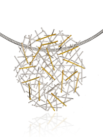 Magnetic Silver & Gold Pendant · £160