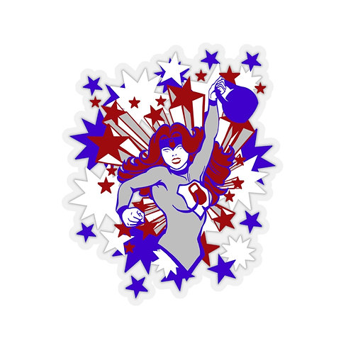 Kettlebell hero Kiss-Cut Stickers