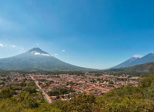 Antigua Guatemala after Acatenango Volcano Eruption.
