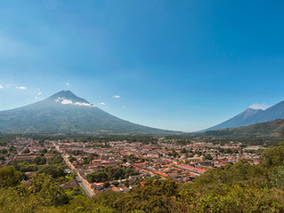 Antigua Guatemala after Acatenango Volcano Eruption.