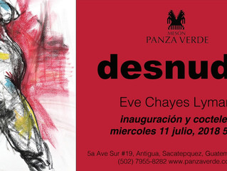 Art Show DESNUDO From Eve Chayes Lyman | Wednesday July 11th @ 5pm.