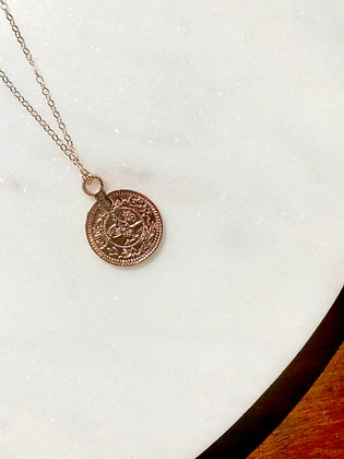 Adjustable Rose Gold Coin Necklace