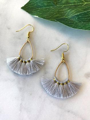 Teardrop Tassel Earrings | Ice Blue
