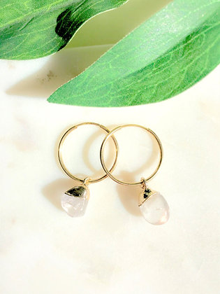Stone Gold Crystal Earrings
