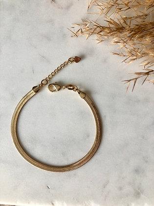 Snake Chain Bracelet   Gold