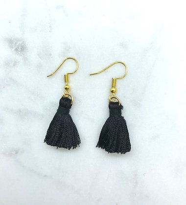 Tassel Earrings | Black