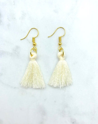 Tassel Earrings | Ivory