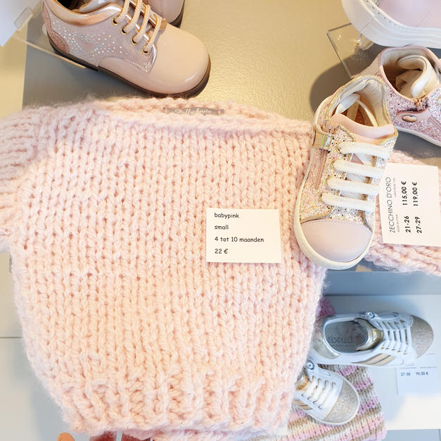 pink glitter truitje