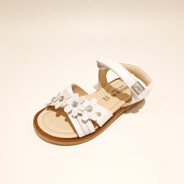 wit bloempjes sandaal