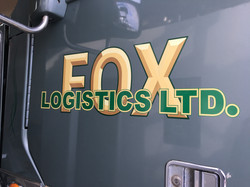 Truck decal with 3-D effect