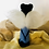 Thumbnail: Small Black Angel Needlefelted Doll
