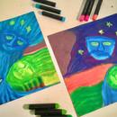 Gaea and Uranus Pastel