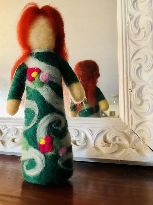 Red-Haired Needlefelted Doll